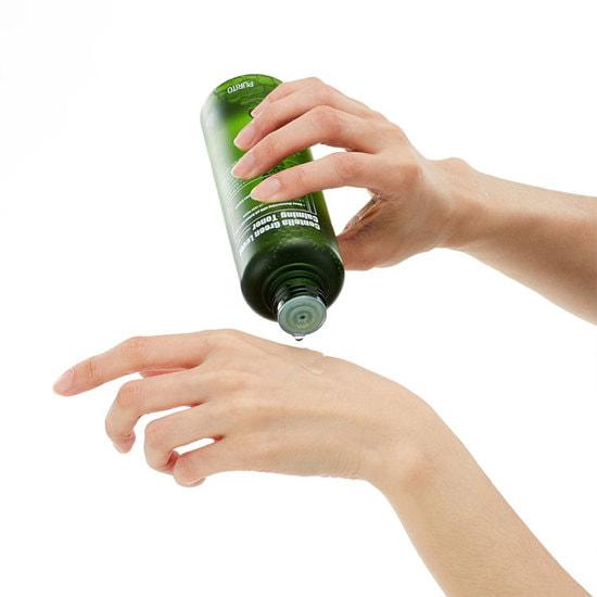 Бесспиртовый успокаивающий тонер с центеллой азиатской Centella Green Level Calming Toner Purito (фото, Бесспиртовый успокаивающий тонер)