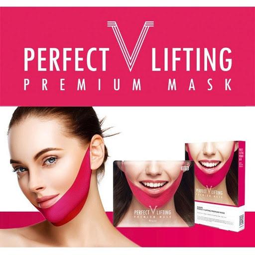 Подтягивающая маска для коррекции овала лица Avajar Perfect V Lifting Premium Mask (фото, маска для коррекции овала лица Avajar)