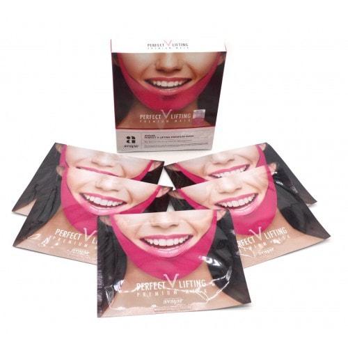 Подтягивающая маска для коррекции овала лица Avajar Perfect V Lifting Premium Mask (фото, Avajar Perfect V Lifting Premium Mask)