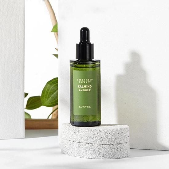 Ампульная успокаивающая сыворотка для лица с экстрактами зеленых плодов Green Seed Therapy Calming Ampoule Eunyul (фото, вид 1)