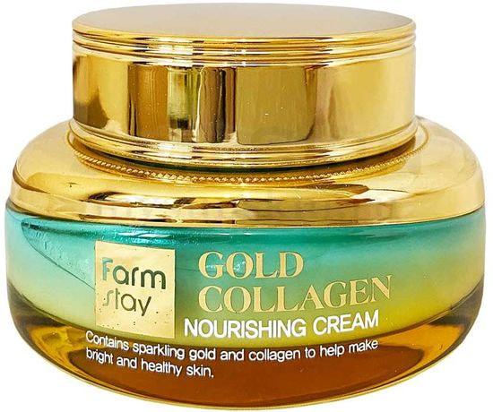 Питательный крем с золотом и коллагеном Gold Collagen Nourishing Cream FarmStay (фото, вид 1)