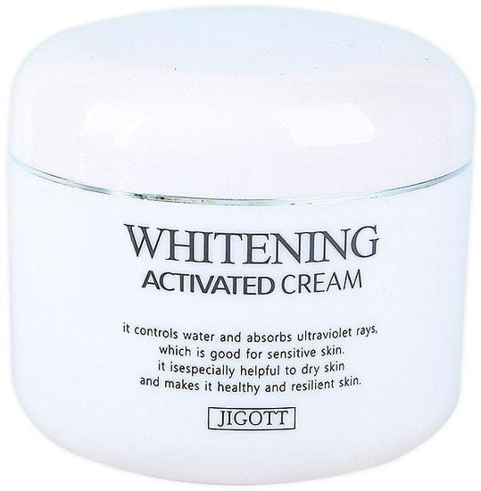 Осветляющий крем для лица Whitening Activated Cream Jigott (фото,  Jigott Whitening Activated Cream)