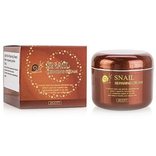 Восстанавливающий крем с экстрактом слизи улитки Snail Reparing Cream Jigott (фото, Jigott Snail Reparing Cream)