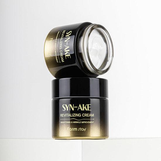 Восстанавливающий крем для лица с пептидом змеиного яда Syn-Ake Revitalizing Cream FarmStay (фото, вид 2)