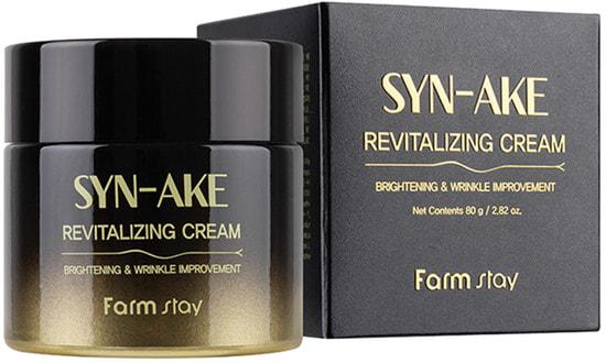 Восстанавливающий крем для лица с пептидом змеиного яда Syn-Ake Revitalizing Cream FarmStay (фото, FarmStay Syn-Ake Revitalizing Cream)