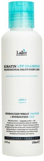 Беcсульфатный шампунь для волос с кератином Keratin LPP Shampoo Lador (фото, Keratin LPP Shampoo Lador)