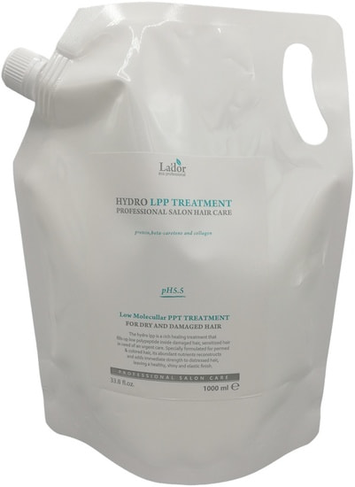 Увлажняющая маска для сухих и поврежденных волос Hydro LPP Treatment Lador (фото, вид 2)