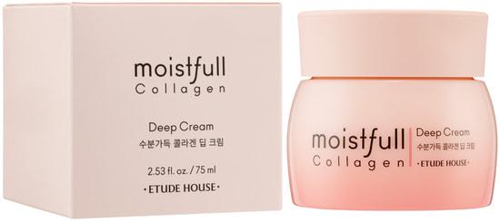 Крем для лица увлажняющий с коллагеном Moistfull Collagen Deep Cream Etude (фото, Etude Moistfull Collagen Deep Cream)