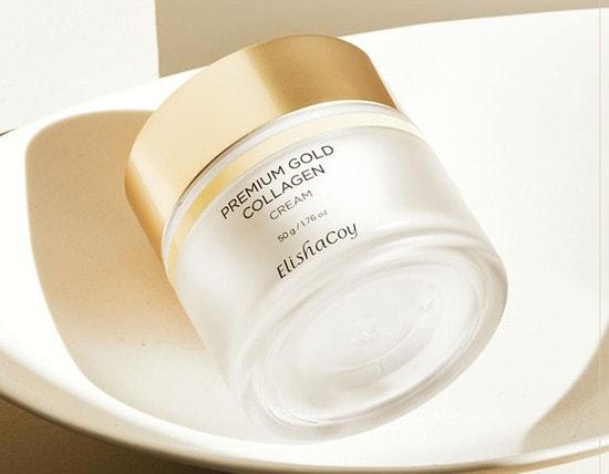 Антивозрастной крем для лица с коллагеном и золотом Premium Gold Collagen Cream Elishacoy (фото, ElishaCoy Premium Gold Collagen Cream)
