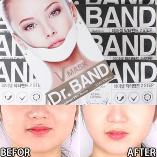 2-х ступенчатая маска для подтяжки контура лица Dr Band Hydrogel Collagen Ultra Lifting Mask Anti Wrinkle V Line (фото, Daycell Dr Band Hydrogel Collagen Ultra Lifting Mask Anti Wrinkle V Line)
