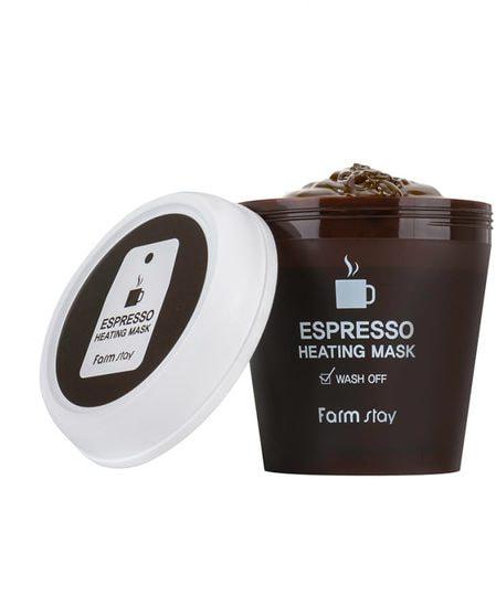 Согревающая маска для лица с экстрактом кофе Espresso Heating Mask FarmStay (фото, FarmStay Espresso Heating Mask)