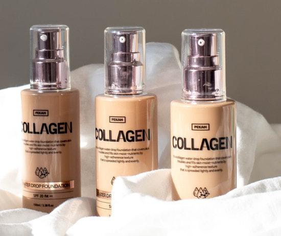 Увлажняющая тональная основа с коллагеном Collagen Water Drop Pekah (фото, Увлажняющая тональная основа с коллагеном)