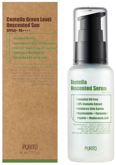 Увлажняющая сыворотка для восстановления кожи с центеллой азиатской Centella Unscented Serum Purito (фото, Purito Centella Unscented Serum)