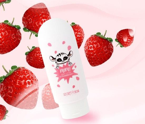 Лосьон для тела с ароматом клубники mimi body lotion Strawberry Secret Skin (фото, Secret Skin mimi body lotion Strawberry)