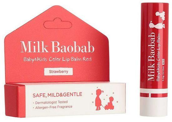 Детский бальзам для губ Baby and Kids Calming Lip Balm Milk Baobab (фото, Milk Baobab Baby and Kids Calming Lip Balm)