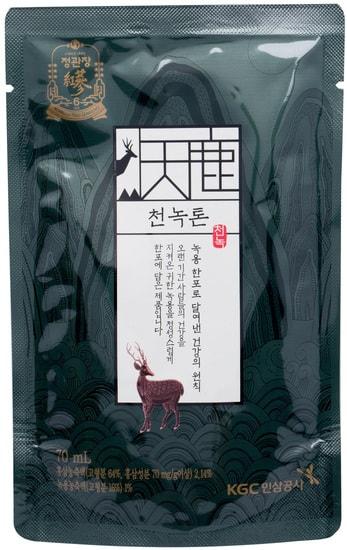 Тонизирующий премиум напиток из корня женьшеня и оленьего рога CheonNok Tonic Cheong Kwan Jang (фото, Тонизирующий премиум напиток ЧонНок)