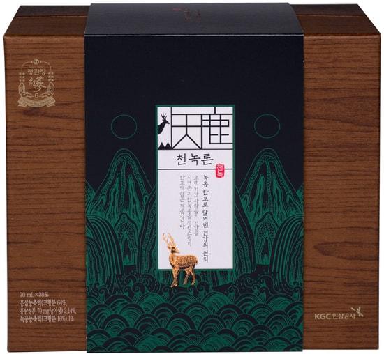 Тонизирующий премиум напиток из корня женьшеня и оленьего рога CheonNok Tonic Cheong Kwan Jang (фото, CheonNok Tonic Deer Antler Velvet Red Ginseng Extract Pouch Cheong Kwan Jang)