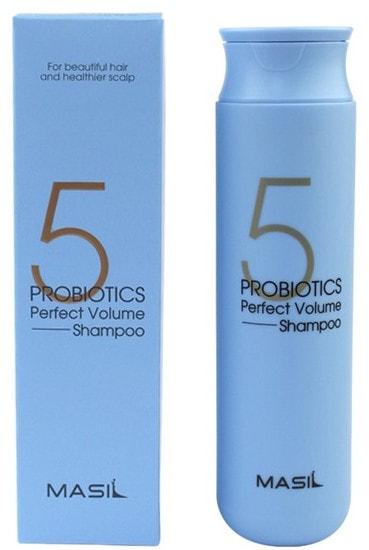 Шампунь для объема волос 5 Probiotics Perfect Volume Shampoo Masil (фото, Шампунь для гладкости и идеального объема волос)