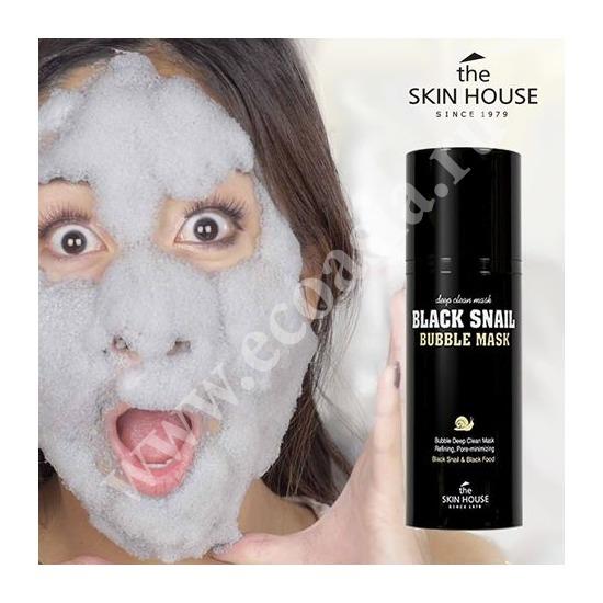 Кислородная маска с улиткой и древесным углем The Skin House (фото, вид 2)