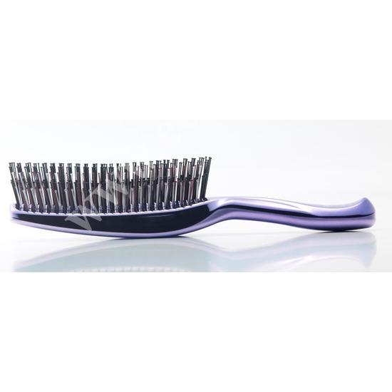 Японская массажная расческа S Heart S Scalp Brush Univiala 572 зубчика цвет пурпурный (фото, вид 1)