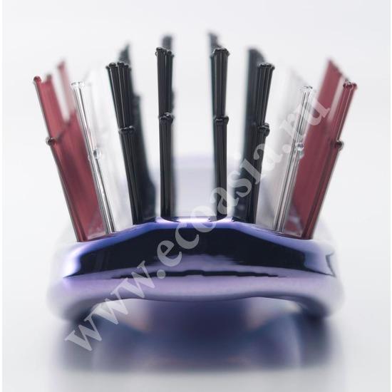 Японская массажная расческа S Heart S Scalp Brush Univiala 572 зубчика цвет пурпурный (фото, вид 2)
