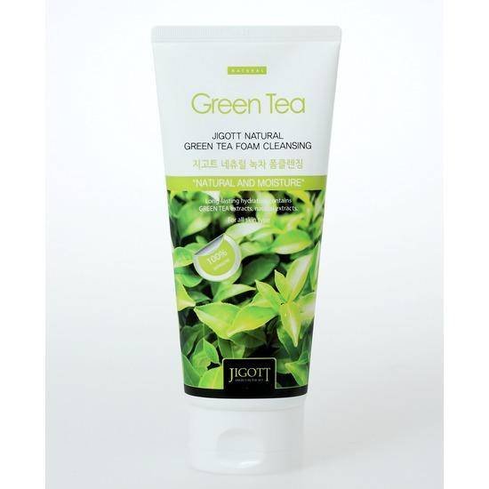 Очищающая пенка с экстрактом зеленого чая Jigott (фото, вид 1)