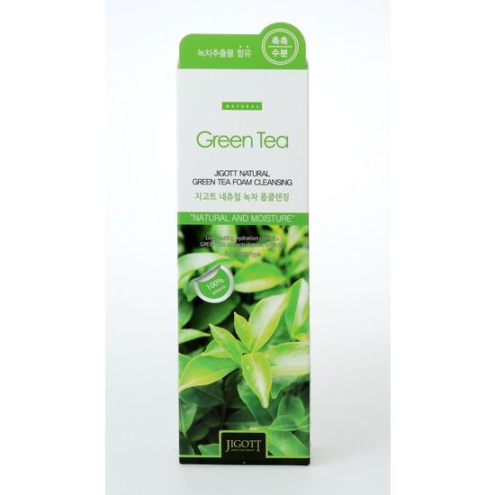 Очищающая пенка с экстрактом зеленого чая Jigott (фото, вид 2)