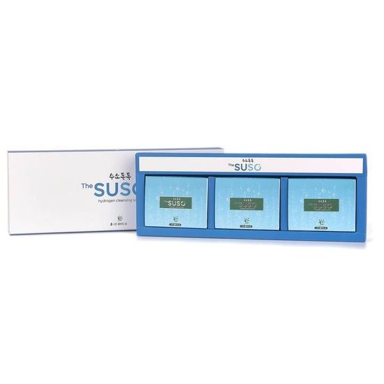 Косметическое мыло с водородом и экстрактом зеленого чая The SUSO (фото, вид 1)