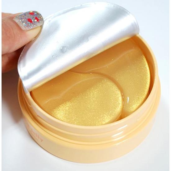 Гидрогелевые патчи для век с частицами коллоидного золота и маточным молочком Royal Jelly Hydrogel Eye Patch KOELF (фото, вид 2)