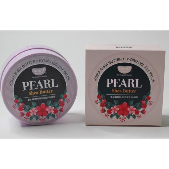 Гидрогелевые патчи для глаз с маслом ши и жемчужной пудрой Pearl Shea Butter Hydrogel Eye Patch KOELF (фото, вид 2)