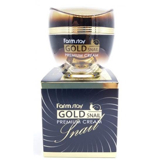 Премиальный крем с золотом и муцином улитки FarmStay (фото, вид 2)
