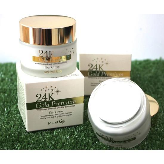 Питательный крем для лица 24К Gold Premium First Cream Secret Key (фото, вид 1)