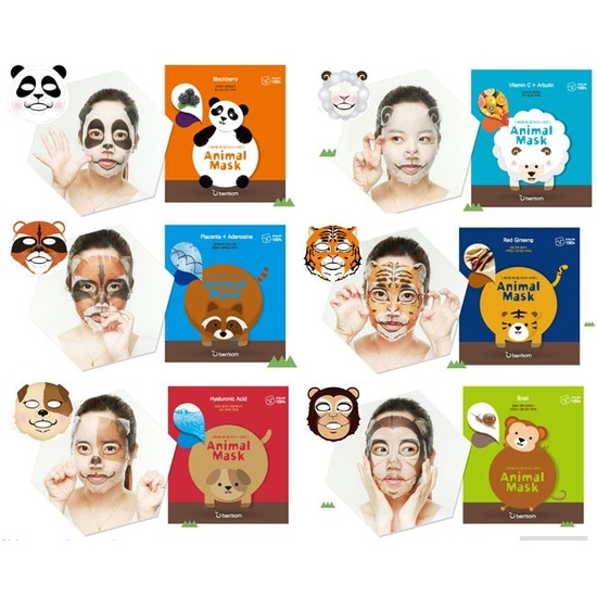 Набор масок для лица из серии Berrisom Animal Mask 7 шт. (фото, вид 1)