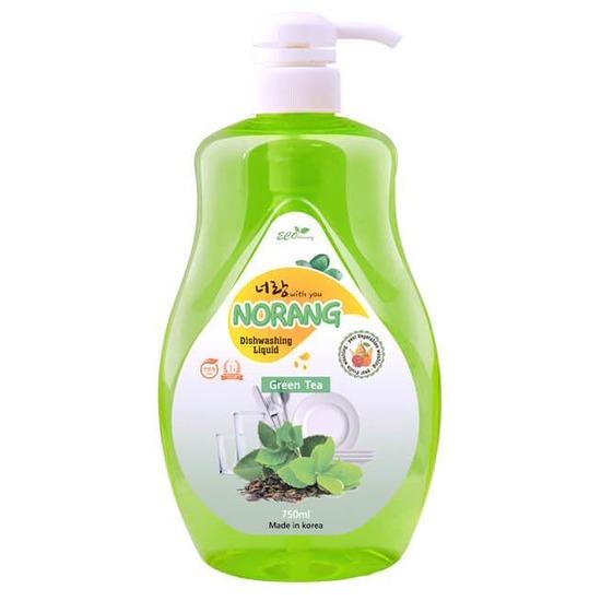 Средство для мытья посуды с экстрактом зелёного чая Norang Dishwashing Liquid - Green Tea (фото, вид 1)