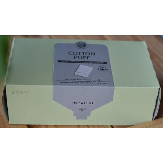 Спонжи косметические из 100% хлопка Cotton Puff The Saem (фото, вид 1)