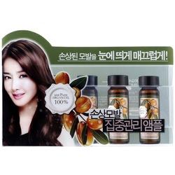 Набор ампул для восстановления сухих и поврежденных волос с аргановым маслом Confume Argan Treatment Hair Ampoule Welcos. Вид 2