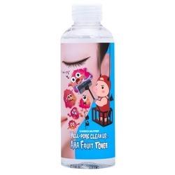 Очищающий тоник пилинг для лица с фруктовыми кислотами Hell-Pore Clean Up AHA Fruit Toner Elizavecca. Вид 2