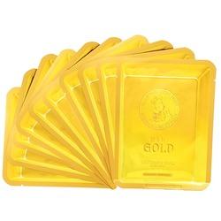 Маска тканевая с золотом и секретом улитки 24k Gold Water Dew Snail mask Elizavecca. Вид 2