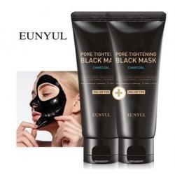 Черная маска пленка сужающая поры с углем Pore Tightening Black Mask Eunyul. Вид 2