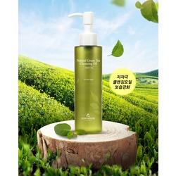 Гидрофильное масло с экстрактом зелёного чая Natural Green Tea Cleansing Oil The Skin House. Вид 2