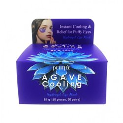 Гидрогелевые охлаждающие патчи для глаз с экстрактом агавы Agave Cooling Hydrogel Eye Mask Petitfee. Вид 2