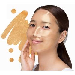 Гидрогелевая маска для лица с золотом и улиткой Gold and Snail Hydrogel Mask Pack Petitfee. Вид 2