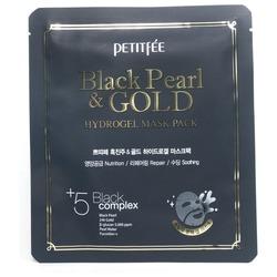 Гидрогелевая маска с золотом и черным жемчугом Petitfee. Вид 2