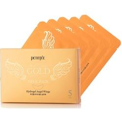 Гидрогелевая маска для шеи с золотыми частицами Petitfee Gold Neck Pack Petitfee. Вид 2