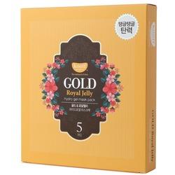 Гидрогелевая маска для лица с золотом и маточным молочком Gold Royal Jelly Hydrogel Mask Pack KOELF. Вид 2
