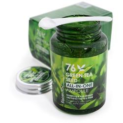 Многофункциональная сыворотка для лица с семенами зеленого чая FarmStay. Вид 2