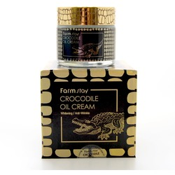 Питательный крем для увядающей кожи лица с крокодильим жиром FarmStay. Вид 2