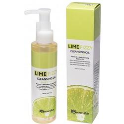 Гидрофильное масло для снятия макияжа с экстрактом лайма Lime Fizzy Cleansing Oil Secret Skin. Вид 2