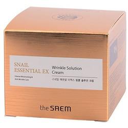 Антивозрастной крем для лица Snail Essential Ex Wrinkle Solution Cream The Saem. Вид 2