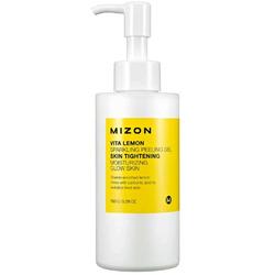 Витаминный пилинг гель с экстрактом лимона Vita Lemon Sparkling Peeling Gel Mizon. Вид 2